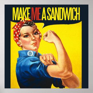 La feminista me hace un bocadillo póster