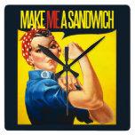 La feminista me hace un bocadillo reloj