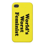 La feminista peor del mundo iPhone 4/4S carcasas