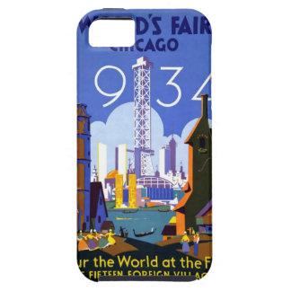 La feria 1934 de mundo de Chicago iPhone 5 Case-Mate Fundas