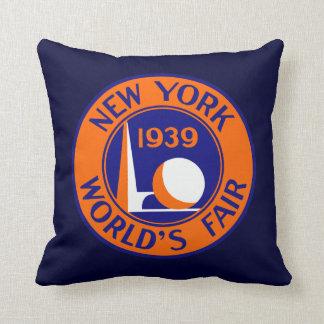 La feria 1939 de mundo de Nueva York Cojines