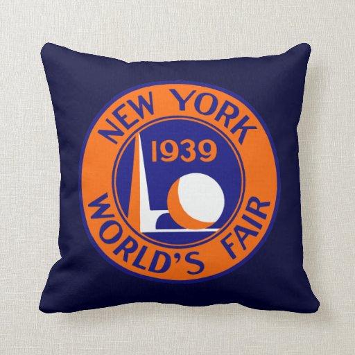 La feria 1939 de mundo de Nueva York Cojín Decorativo