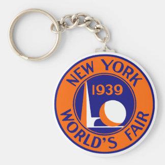 La feria 1939 de mundo de Nueva York Llavero Redondo Tipo Pin