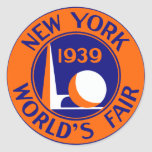 La feria 1939 de mundo de Nueva York Pegatina Redonda