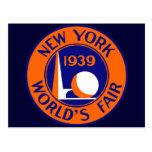 La feria 1939 de mundo de Nueva York Postal