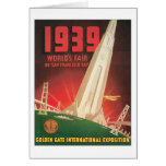 La feria 1939 de mundo San Francisco Bay Tarjeta De Felicitación