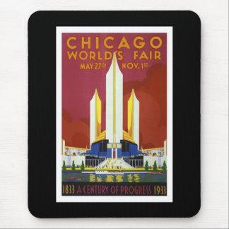 """La """"feria de mundo, Chicago, 1933"""" vintages Alfombrilla De Ratón"""