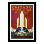 """La """"feria de mundo, Chicago, 1933"""" vintages Tarjeta De Felicitación"""
