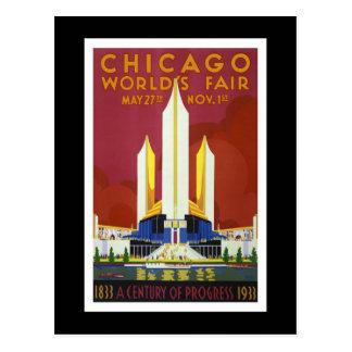 La feria de mundo Chicago 1933 vintages Tarjeta Postal