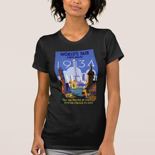 La feria de mundo Chicago 1934 Camisetas