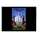 La feria de mundo Chicago 1934 Felicitación