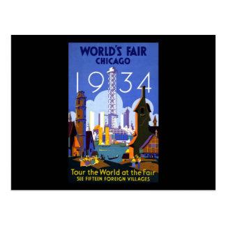 La feria de mundo Chicago 1934 Tarjeta Postal