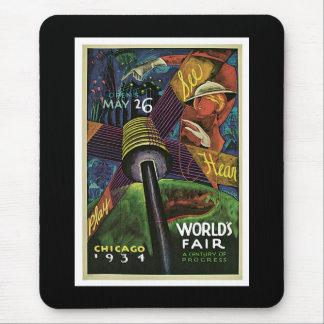 """La """"feria de mundo, Chicago, 1934"""" vintages Alfombrilla De Ratones"""