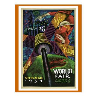 La feria de mundo Chicago 1934 vintages Tarjeta Postal