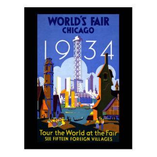 La feria de mundo de Chicago 1934 Postales