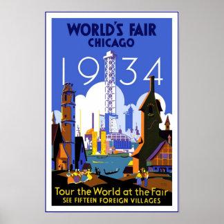 La feria de mundo de Chicago del poster del viaje