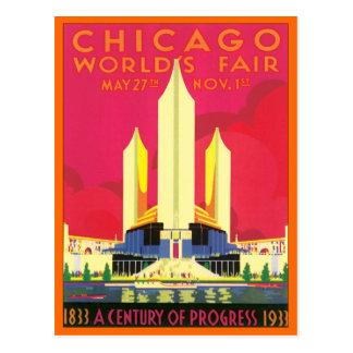 La feria de mundo de Chicago del vintage Tarjeta Postal