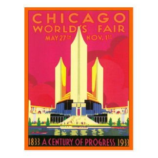 La feria de mundo de Chicago del vintage Tarjetas Postales