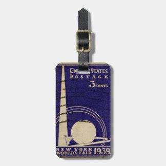 La feria de mundo de Nueva York 1939 Etiquetas Bolsa