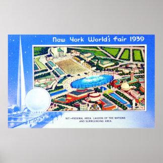 La feria de mundo de Nueva York 1939 Posters