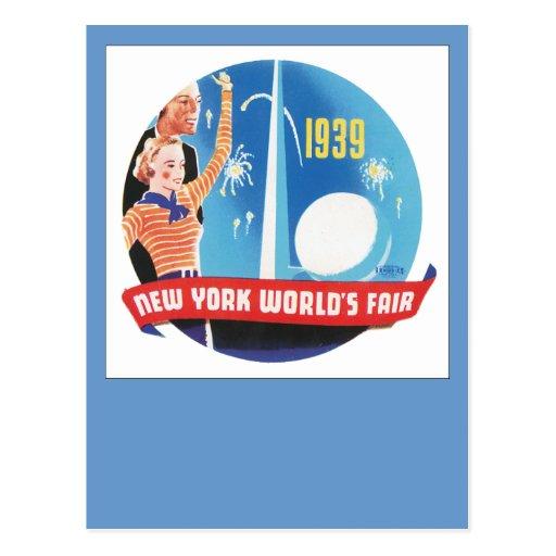 La feria de mundo de Nueva York 1939 Postal