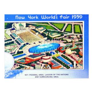 La feria de mundo de Nueva York 1939 Tarjeta Postal