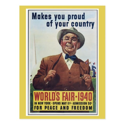 La feria de mundo de Nueva York 1940 Postal