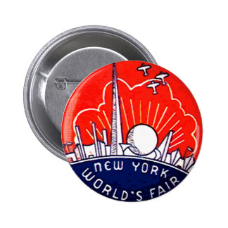 La feria de mundo de NY - botón Pin Redondo De 2 Pulgadas