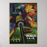 La feria de mundo de Sandor Chicago Posters