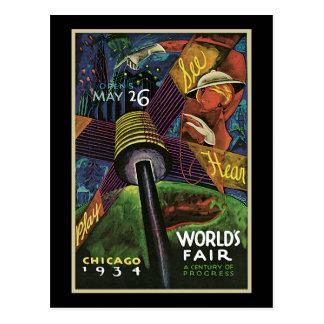 La feria de mundo de Sandor Chicago Tarjeta Postal