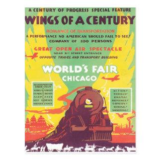 La feria de mundo del vintage Chicago Postales