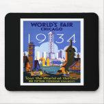 """La """"feria de mundo, vintage de Chicago 1934"""" Tapete De Raton"""