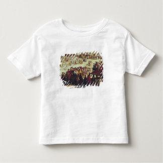 La feria en Impruneta, detalle de la derecha Camisas