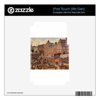 La feria, tarde soleada Camille Pissarro de Dieppe Calcomanía Para iPod Touch 4G