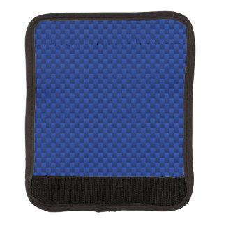 La fibra de carbono azul tiene gusto del fondo de funda para asa de maleta