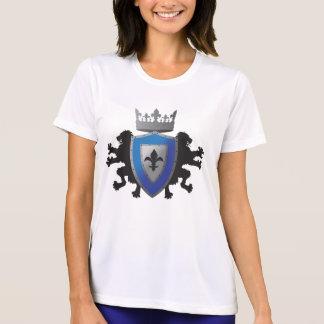 La fibra micro T del león de Ladie medieval azul Camiseta