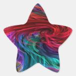 La FIBRA rosca los espaguetis - arte gráfico de la Pegatinas Forma De Estrellaes