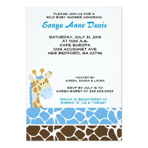 """La fiesta de bienvenida al bebé (azul) 5x7 del invitación 5"""" x 7"""""""