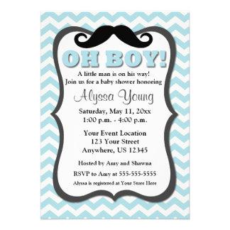 La fiesta de bienvenida al bebé azul de Chevron de Comunicados