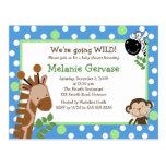 La fiesta de bienvenida al bebé AZUL de la AVENTUR Tarjeta Postal
