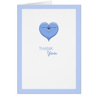 La fiesta de bienvenida al bebé azul del corazón g tarjeton