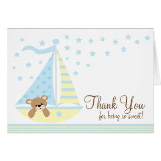 La fiesta de bienvenida al bebé azul del velero le felicitaciones