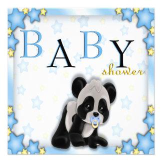 La fiesta de bienvenida al bebé azul linda del oso