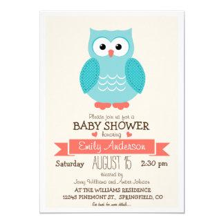 La fiesta de bienvenida al bebé azul y coralina anuncio