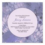 La fiesta de bienvenida al bebé azul y púrpura del invitación 13,3 cm x 13,3cm