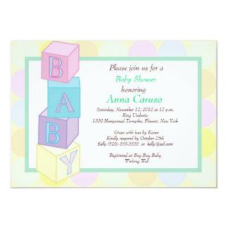 La fiesta de bienvenida al bebé bloquea la invitación 12,7 x 17,8 cm