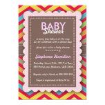La fiesta de bienvenida al bebé colorida de anuncios personalizados