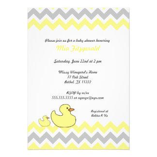 La fiesta de bienvenida al bebé de Chevron del pat Invitaciones Personales