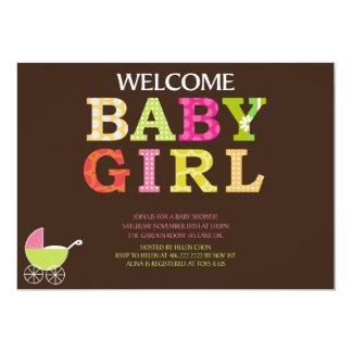 """La fiesta de bienvenida al bebé de encargo invita invitación 5"""" x 7"""""""