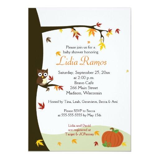 """La fiesta de bienvenida al bebé de Halloween 5x7 Invitación 5"""" X 7"""""""